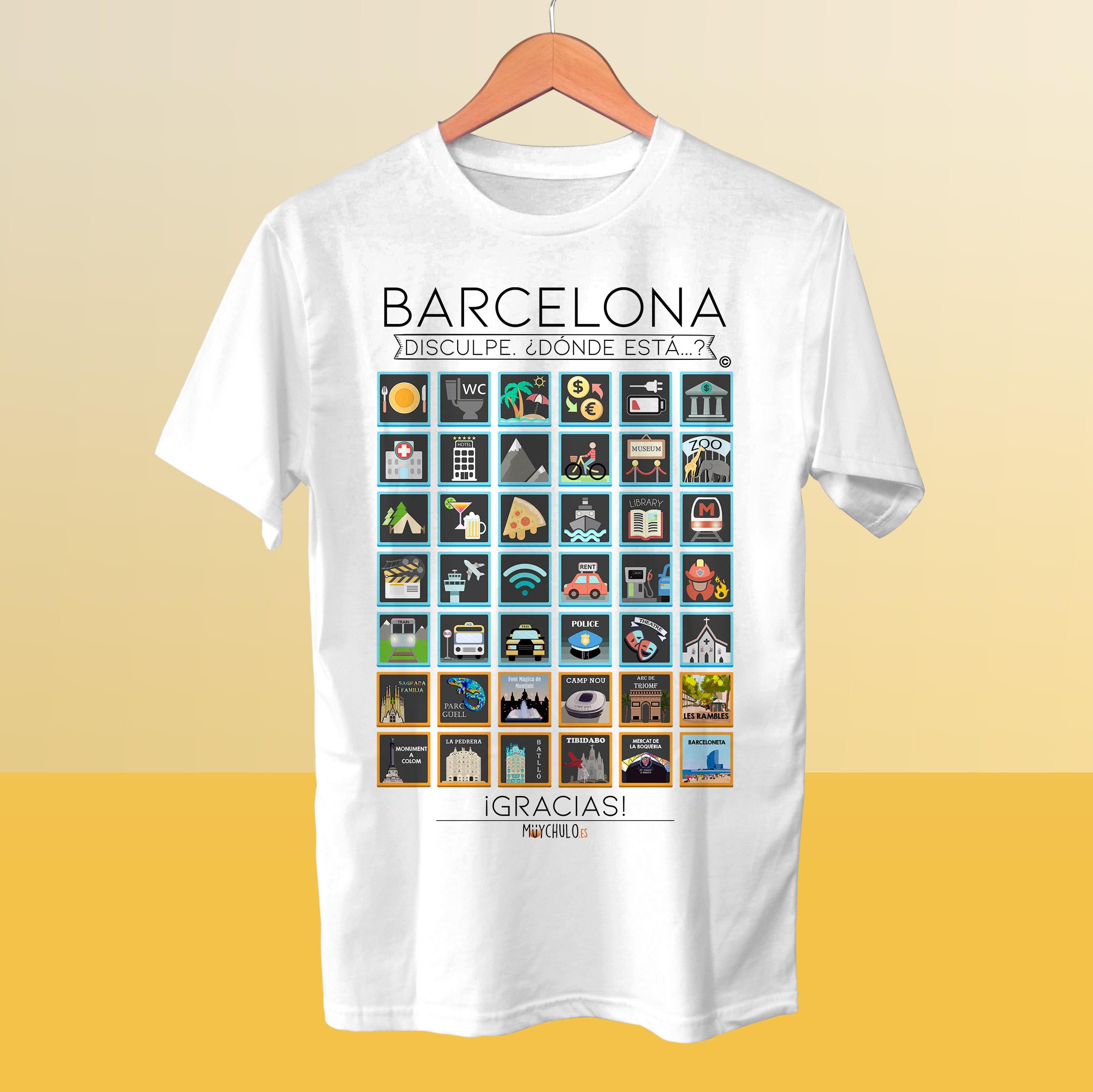 7824612f3 Barcelona Traveller S T Shirt Travellers Viaja Y Disfruta