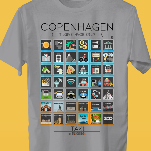 COPENHAGHE Camiseta Viajeros