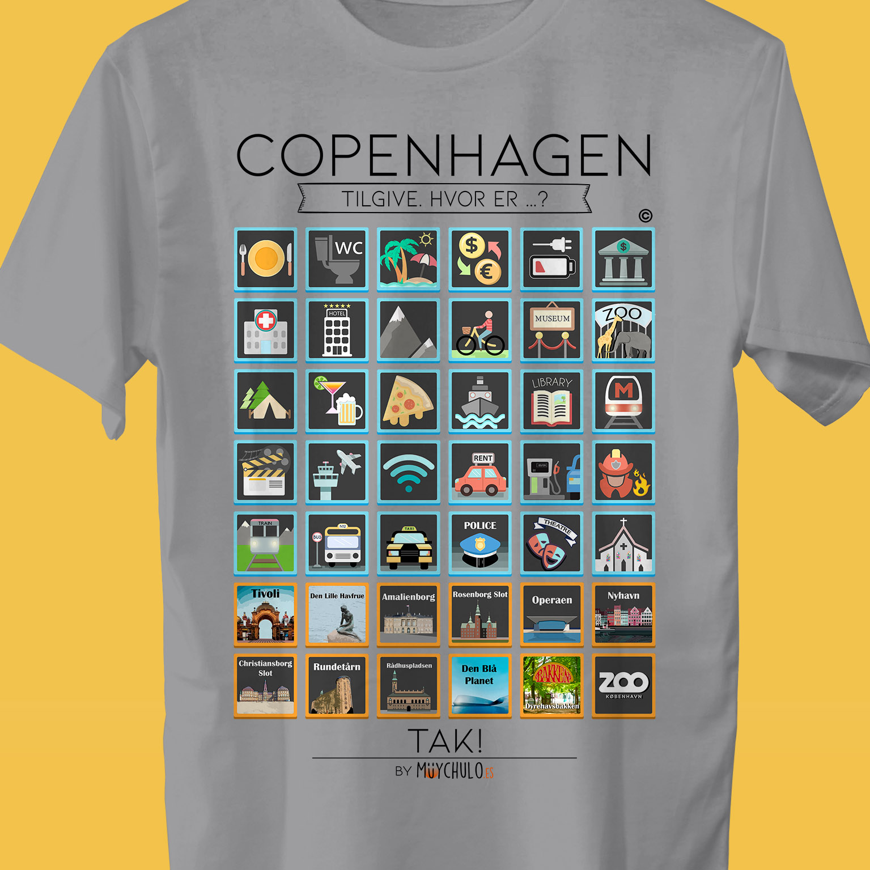 COPENHAGHE Camiseta Viajeros - Travellers t-shirt VIAJA Y DISFRUTA c2cf2ea919d