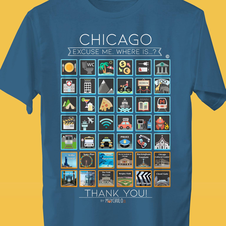 CHICAGO Camiseta Viajeros - Travellers t-shirt VIAJA Y DISFRUTA 50f779bae6c